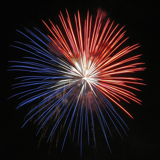 Red White and Blue Firework